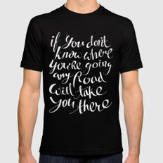 Roads Black SMALL Mens Fitted Tee