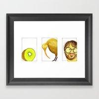 3 Kiwis Framed Art Print