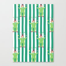 Clown (green) Canvas Print