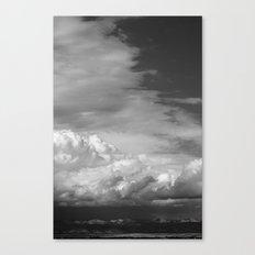 Bookcliffs b/w 2.0 Canvas Print