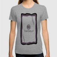 Be Thyself Womens Fitted Tee Tri-Grey SMALL