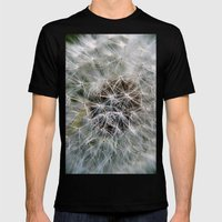 Dandelion Mens Fitted Tee Black SMALL