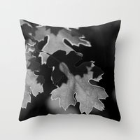 Sunlit Oak Leaf Throw Pillow