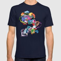 The Convulsionnaires Mens Fitted Tee Navy SMALL