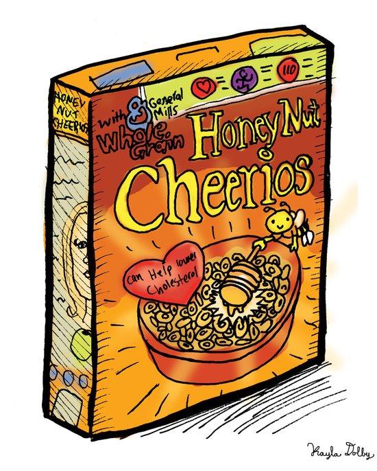 Honey Nut Cheerios Art Print