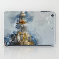 Watercolor lighthouse Blyth Northumberland iPad Case