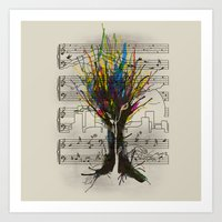 Ink Chords Art Print