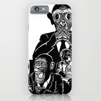 iPhone & iPod Case featuring Three Wise Monkeys by Guapo