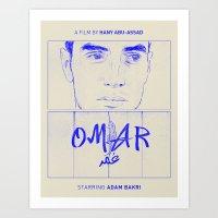 Omar (Blue Version) Art Print