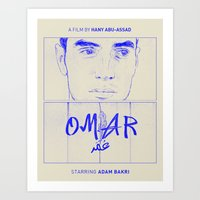 Omar (Blue Version) Art Print