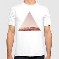 Desert Sand Dune Landscape Mens Fitted Tee White SMALL