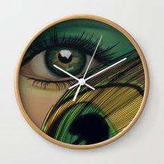 Through The Eye Of A Peacock Wall Clock