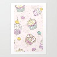Sweets Galore! Art Print