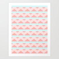 Pastel pattern Art Print