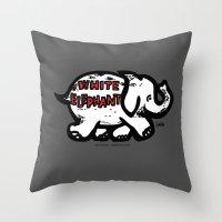 The White Elephant, Spokane, WA Throw Pillow