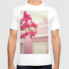 Bougainvillea White Mens Fitted Tee SMALL