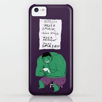 iPhone 5c Cases featuring Hulk to do list. by Louis Roskosch