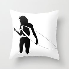 Surf Chick Throw Pillow