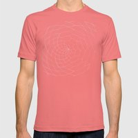 Honey Twist Blue Print Mens Fitted Tee Pomegranate SMALL