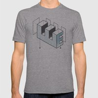 The Exploded Alphabet / E Mens Fitted Tee Athletic Grey SMALL