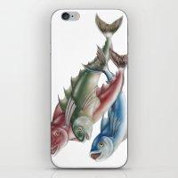 INKYFISH - Fish friends iPhone & iPod Skin