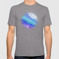 AGATE Inspired Watercolor Abstract 07 Mens Fitted Tee Tri-Grey SMALL