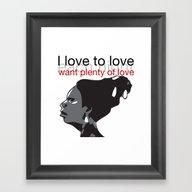 Nina Simone I Love To Lo… Framed Art Print