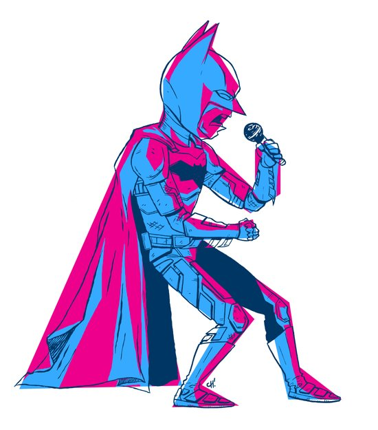 The Dark Knight Rocks Canvas Print