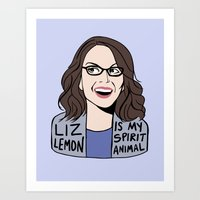Liz Lemon is my spirit animal Art Print