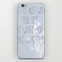 Not What You See iPhone & iPod Skin