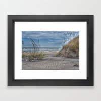 Sand Swirls Framed Art Print