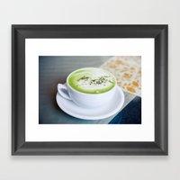 Matcha Framed Art Print