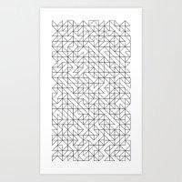 BW TRIANGLE PATTERN Art Print