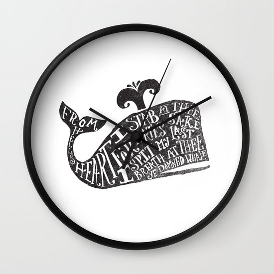 ...YE DAMNED WHALE. Wall Clock