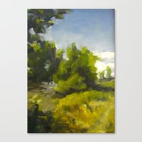 Green Riverside Canvas Print