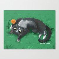 Kitty Adoration Canvas Print
