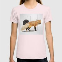 Smiling Fox Womens Fitted Tee Light Pink SMALL