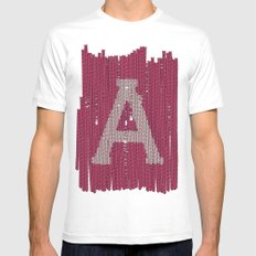 Winter clothes II. Letter A SMALL White Mens Fitted Tee