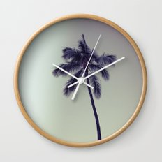 palm tree ver.vintage Wall Clock