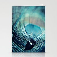 Peacock Drop Stationery Cards