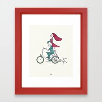Faster Than The Wind Framed Art Print