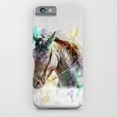 Watercolor Horse Portrait iPhone 6 Slim Case