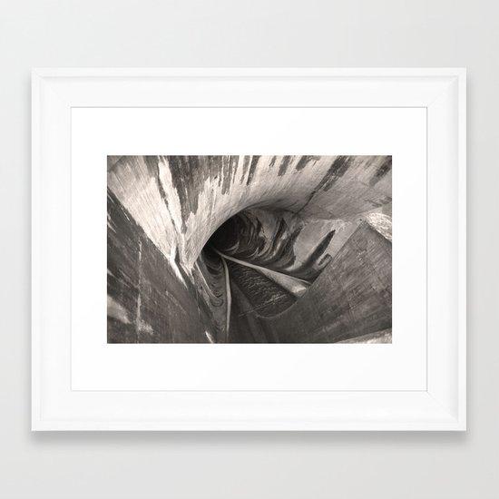Dam Reticulation - the Void Framed Art Print