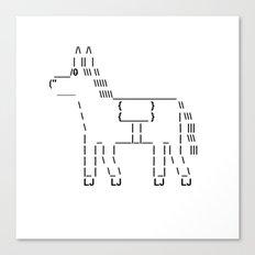 Punctuation Horse Canvas Print