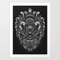 Majestic Garuda Art Print