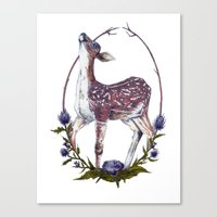 Fawn and Thistle Canvas Print