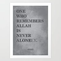 One Who Remembers Allah Art Print