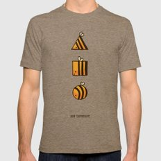 BEE DIFFERENT Mens Fitted Tee Tri-Coffee SMALL