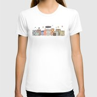 Bottled Happiness Womens Fitted Tee White SMALL