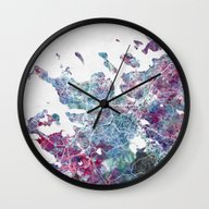 Reykjavik Map Wall Clock